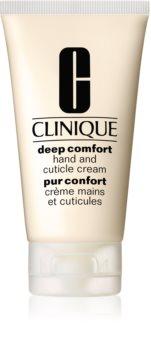 Clinique Deep Comfort™ Hand and Cuticle Cream дълбоко хидратиращ крем в дълбочина на ръцете, ноктите и кожичките