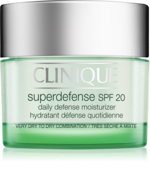 Clinique Superdefense™ SPF 20 Moisturizing and Protecting Day Cream for Dry and Combination Skin