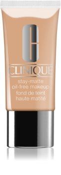 Clinique Stay-Matte Sheer Pressed Powder tekutý make-up pro mastnou a smíšenou pleť