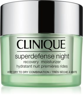 Clinique Superdefense™ Night Recovery Moisturizer Moisturizing Night Cream Against The First Signs of Skin Aging