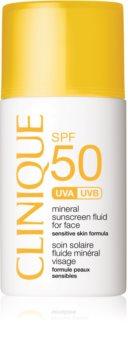 Clinique Sun fluido abbronzante ai minerali per il viso SPF 50