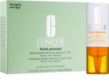 Clinique Fresh Pressed posvjetljujući serum s vitaminom C protiv starenja lica