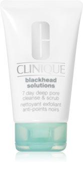 Clinique Blackhead Solutions 7 Day Deep Pore Cleanse & Scrub demachiant cu efect de peenling impotriva punctelor negre
