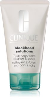 Clinique Blackhead Solutions 7 Day Deep Pore Cleanse & Scrub Exfoliating Face Cleanser Anti-Blackheads