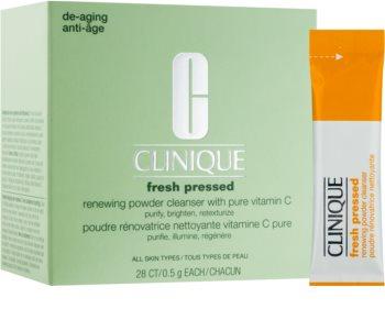 Clinique Fresh Pressed poudre nettoyante à la vitamine C