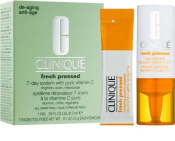 Clinique Fresh Pressed™ 7-Day System with Pure Vitamin C Kosmetiksæt  I. til kvinder
