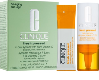 Clinique Fresh Pressed Cosmetic Set 7-day System With Pure Vitamin C for Women