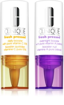 Clinique Fresh Pressed™ Clinical Daily + Overnight Boosters with Pure Vitamins C 10% + A Dag- og natpleje
