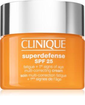 Clinique Superdefense™ SPF 25 Fatigue + 1st Signs Of Age Multi-Correcting Cream Fugtighedscreme til de første alderstegn til tør og kombineret hud