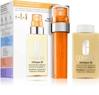 Clinique iD™ Dramatically Different™ Moisturizing Lotion + Active Cartridge Concentrate for Fatigue kozmetikai szett  a ragyogó arcbőrért
