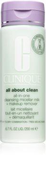 Clinique All About Clean All-in-One Cleansing Micellar Milk + Makeup Remove delikatne mleczko oczyszczające do skóry suchej i bardzo suchej
