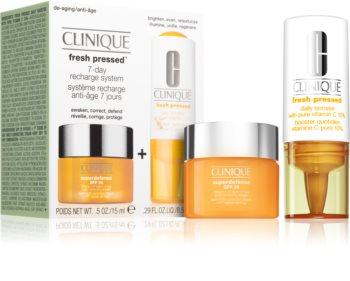 Clinique Fresh Pressed козметичен комплект (с витамин С)