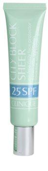 Clinique City Block™ Sheer Oil-Free Daily Face Protector SPF 25 védőkrém az egész arcra SPF 25