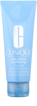 Clinique City Block™ Purifying Charcoal Clay Mask + Scrub masca pentru curatare profunda