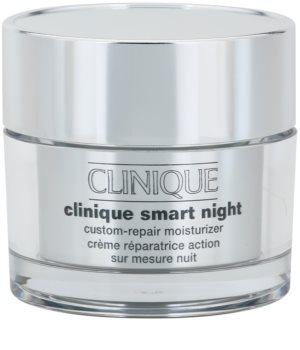 Clinique Smart Night™  Custom-Repair Moisturizer nawilżający krem przeciwzmarszczkowy na noc do skóry suchej i mieszanej