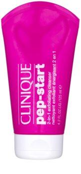 Clinique Pep-Start peelingowy żel czyszczący 2 w 1