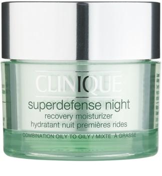 Clinique Superdefense Night hydratační noční krém proti vráskám pro mastnou a smíšenou pleť