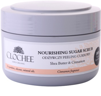 Clochee Simply Organic цукровий пілінг для тіла