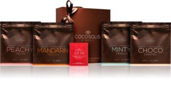COCOSOLIS Luxury Coffee Scrub Box sada (pro jemnou a hladkou pokožku)