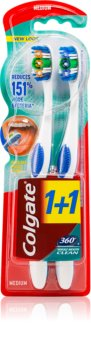 Colgate 360°  Whole Mouth Clean Zahnbürste Medium 2 pc
