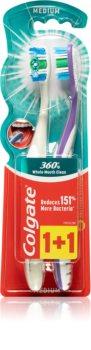 Colgate 360°  Whole Mouth Clean zubní kartáček medium