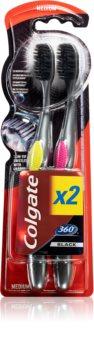 Colgate 360°  Black Toothbrush 2 pcs