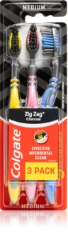 Colgate Zig Zag Charcoal Zahnbürste Medium 3 pc