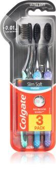 Colgate Slim Soft Active zubní kartáčky s aktivním uhlím soft