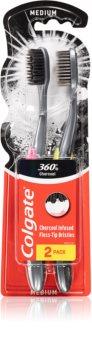 Colgate 360° Black brosse à dents 2 pcs
