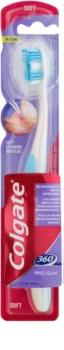 Colgate 360°  Pro Gum escova de dentes para gengivas sensíveis soft