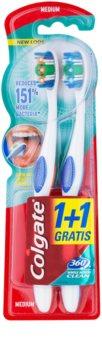 Colgate 360°  Whole Mouth Clean periuta de dinti Medium 2 pc