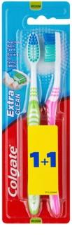 Colgate Extra Clean brosses à dents medium 2 pcs