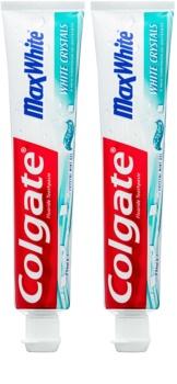 Colgate Max White White Crystals τζελ λευκαντική πάστα για φρέσκια αναπνοή