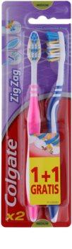 Colgate Zig Zag escovas de dentes média 2 pçs