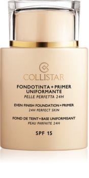 Collistar Even Finish Foundation+Primer 24h Perfect Skin fond de teint et base SPF 15