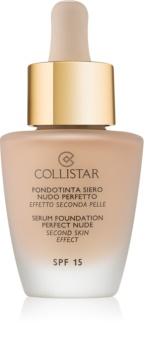 Collistar Serum Foundation Perfect Nude élénkítő make-up a természetes hatásért SPF 15