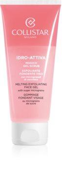 Collistar Idro-Attiva Melting Exfoliatiing Face Gel exfoliant din zahăr pentru față