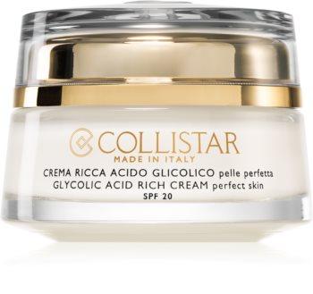 Collistar Pure Actives Glycolic Acid Rich Cream Nærende creme til at genskabe fylde med lysnende effekt