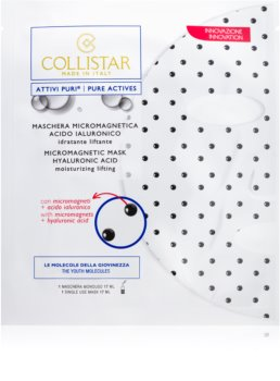 Collistar Pure Actives Micromagnetic Mask Hyaluronic Acid maseczka mikromagnetyczna z kwasem hialuronowym