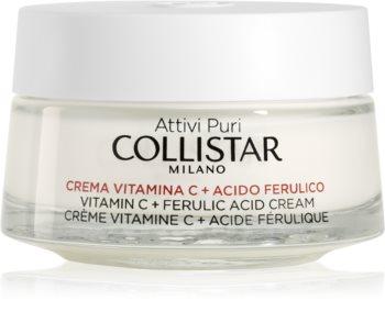 Collistar Attivi Puri® Vitamin C + Ferulic Acid Cream krem rozjaśniający z witaminą C