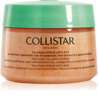 Collistar Special Perfect Body Anti-Age Talasso-Scrub regeneráló peelinges só a bőr öregedése ellen