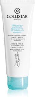 Collistar Nourishing Hygiene Hand Creme feuchtigkeitsspendende Creme für die Hände mit antibakteriellem Zusatz