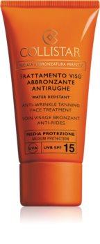 Collistar Special Perfect Tan Anti-Wrinkle Tanning Face Treatment krema za sončenje proti staranju kože SPF 15