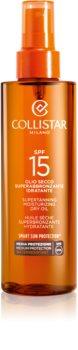 Collistar Special Perfect Tan Supertanning Moisturizing Dry Oil olej na opaľovanie SPF 15