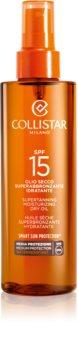 Collistar Special Perfect Tan Supertanning Moisturizing Dry Oil ulei pentru plaja SPF 15