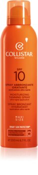 Collistar Special Perfect Tan Moisturizinig Tanning Spray napozó spray SPF 10