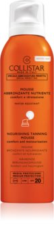 Collistar Special Perfect Tan Nourishing Tanning Mousse napozó hab arcra és testre SPF 20