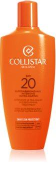 Collistar Special Perfect Tan Intensive Ultra-Rapid Supertanning Treatment Accelerator til bruning af ansigt og krop SPF 20