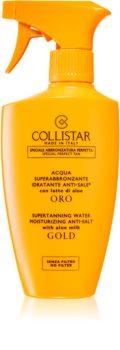 Collistar Special Perfect Tan Supertanning Water Moisturizing Anti-Salt spray corporel qui accélère le bronzage