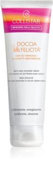 Collistar Doccia della Felicitá Bath and Shower Cream cremă pentru duș cu uleiuri esentiale si extracte din plante mediteraneene.